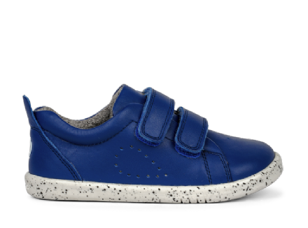 Bobux Grass Court Leather Trainer (Blueberry)
